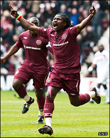 Hearts midfielder Laryea Kingston