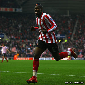 Sunderland v Bolton: Djibril Cisse gives the hosts a dream start when he slots home after 11 minutes