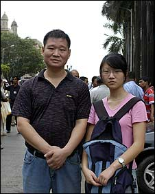 Shi Xi Lin with his daughter Jingwei