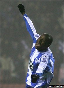 Emmerson Boyce seals a late win for Wigan with a thumping header and looks reasonably pleased with himself