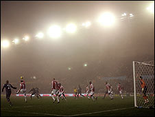 Fog at the Britannia Stadium