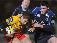 Leinster's Fergus McFadden (left) and Marc Stcherbina