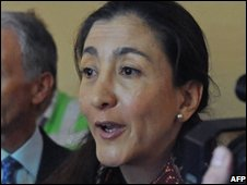 Ingrid Betancourt in Colombia, 29 November, 2008