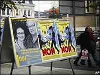 Cartel a favor del programa de hero�na en Ginebra