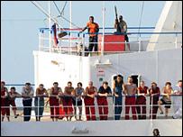 قراصنة على متن السفينة إم في فاينا