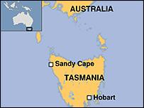 Mapa de Tasmania