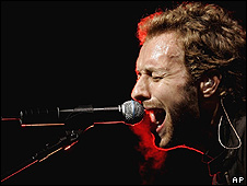 Chris Martin at Glastonbury