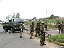 Nigerian troops in Jos on 29 November