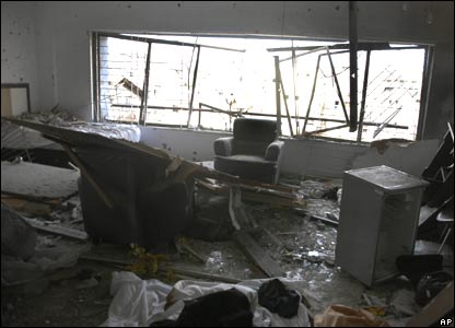 Damage inside Nariman House