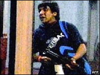 Imagen de uno de los atacantes