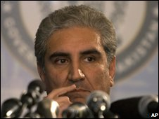 Pakistan Foreign Minister Shah Mehmood Qureshi
