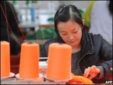 Chinese textile worker