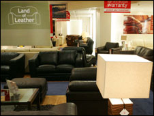 Land of Leather showroom