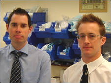 Dr Tim Jones (left) and Dr Chris Greenall