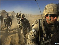 US soldiers in Afghanistan - 28/11/2008