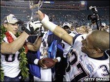 New England players celebrate