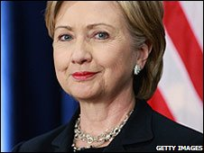 US Secretary of State nominee Hillary Clinton at a press conference in Chicago (01/12/2008)