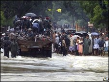 Flooding in northern Sri Lanka