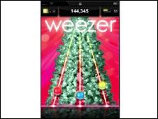 iPhone screenshot Weezer