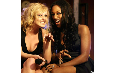 Diana Vickers and Alexandra Burke