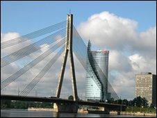 Vansu bridge, Riga