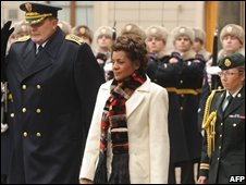 Canada Governor General Michalle Jean on a visit to the Czech Republic on 1 December