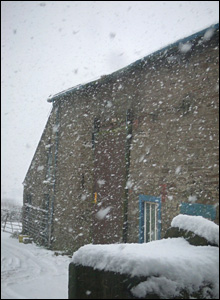 A snowy farmhouse in Horwich, Bolton: photo Gwynneth Pendlebury