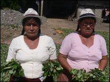 Honorata Diaz and Peregrina Paichucamo