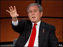 جورج بوش خلال مشاركته في منتدى بواشنطن