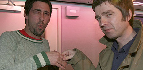 Colin Murray and Noel Gallagher