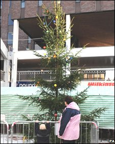 Peterlee Christmas tree