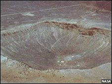 Impact crater in Arizona