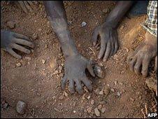 Miners in Zimbabwe