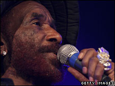 File photo of Lee Scratch Perry performing in Australia