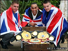 Billy Joe Saunders, James DeGale and Frankie Gavin