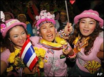 Opositores tailandeses festejan