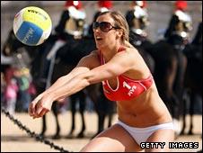 British beach volleyball player Denise Johns