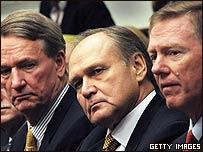 Los jefes de las tres grandes automotrices de EE.UU.