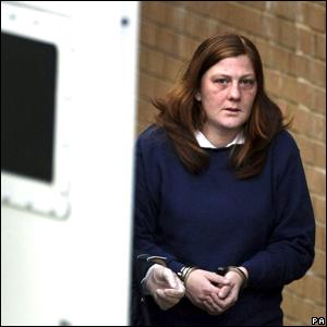 Karen Matthews being led to court
