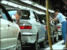Nissan car production in Sunderland