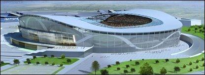 proposed stadium at the Maze site