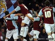 Burnley celebrate