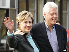 Hillary and Bill Clinton (file picture)