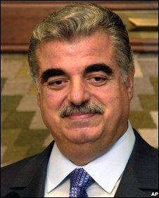 Rafik Hariri in Beirut, 16 April 2003