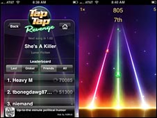 tap tap revenge screenshot