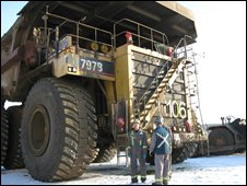 Caterpillar 797B at Muskeg River mine in Alberta, Canada