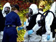 Suspected anthrax attack in Washington (21 Oct 2001)