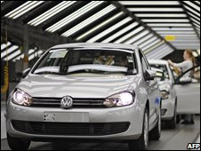 VW production line at factory in Wolfsburg