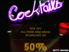 Cheap drinks promotion