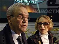 Глеб Панфилов с женой актрисой Инной Чуриковой (фото с сайта kino-teatr.ru)